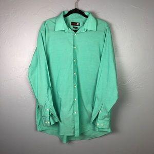 🐢J Ferrar Green Button Up XL